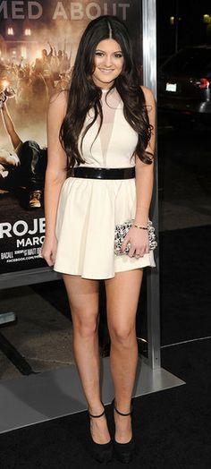 Kylie Jenner in the white Lulu dress by For Love & Lemons