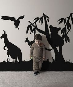 Vinyl Wall Decal Sticker Australian Animals from StickerBrand. Saved to bedroom. Wall Decal Sticker, Vinyl Decals, Wall Stickers, Baby Boy Rooms, Baby Room, Murals For Kids, Australia Animals, Nursery Themes, Nursery Ideas
