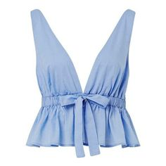 e RON) ❤ liked on Polyvo top, ruffle top, tie crop top, blue t shirt and peplum tee Diy Fashion, Ideias Fashion, Fashion Looks, Fashion Outfits, Womens Fashion, Tie Crop Top, Blue Crop Tops, Summer Outfits, Casual Outfits