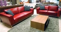 Natuzzi's red leather Ciak collection is representative of the red/berry color focus seen at the spring High Point Market. Featured in the June 3, 2013 Issue of Furniture Today.