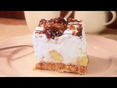 Nepečený banánový koláč - YouTube