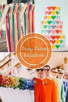 Rainbow Wedding Palette : Pretty Palettes By The DIY Wedding Planner On the #1 DIY wedding website www.howtodiywedding.com #prettypalettes #rainbowwedding inspiration from Pop Sugar DIY Wedding Planning | Pretty Palettes