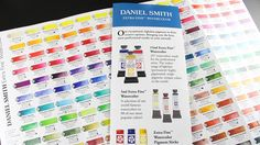 TIPS FOR WATERCOLORING! Understanding Daniel Smith Watercolor Ratings Chart by @sandyallnock for the #EllenHutsonLLC CLASSroom blog. #WatercoloringwithSandy