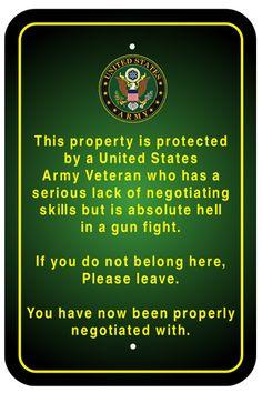 JET Graphics - Army Veteran Sign