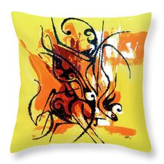 Throw Pillow featuring the painting Modern Art Abstract_2 by Rupam Shah