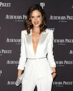 Pin for Later: There's Nothing Stocky or Business-Like About Alessandra Ambrosio's White Pantsuit