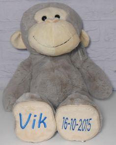 Knuffel JAAP voor vik http://www.borduurkoning.nl/shop/baby_artikelen/knuffel