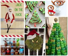 We are sharing lots of fun Christmas Fun Food & Craft Ideas with all of you today for our Fun Finds Friday that we have found this week. Also including our version of Elf on the Shelf. Lots of cute stuff! Brownie Christmas Trees from One Little Project… EasyDIYThe Grinch Christmas Wreath from The Style …