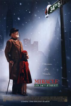 The Miracle on Street Movie Poster x 40 Inches - x -(Richard Attenborough)(Elizabeth Perkins)(Dylan McDermott)(J. Family Movies, New Movies, Movies To Watch, Good Movies, Imdb Movies, James Remar, Mara Wilson, Elizabeth Perkins, Movie M