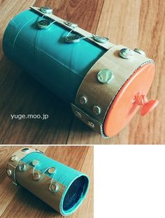 How to make a cylinder type air cannon ・ Easy to use candy empty box! Air Cannon, Easy To Use, How To Make, Toys, Fountain Hills, Handmade, Activity Toys, Hand Made, Clearance Toys