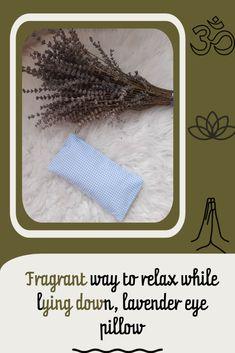 Lavender eye pillow, blue gingham #etsy #gingham #lavender Lavender Pillow, Lavender Seeds, Blue Gingham, How To Dry Basil, Meditation, Herbs, Pillows, Handmade Gifts, Etsy