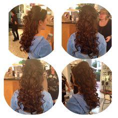 Spiral curls #halfuphalfdown #sweet16 #enzoriccobenesalon