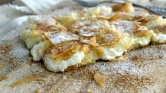 Recipes for small and big kids .: Stunning Cretan pies with sour cream cheese! Bougatsa Recipe, Greek Appetizers, The Kitchen Food Network, Puff Pastry Desserts, Greek Sweets, Breakfast Snacks, Sweet Tarts, Greek Recipes, Soul Food