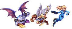 "Meta Knight, Pit, Zero Suit Samus - Smash Bros. by Daniel ""Abysswolf"" Oliver"