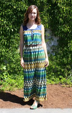 I love maxi dresses because: Easy 1 piece dressing Long skirt = high glamour Comfortable as a muumuu No shaving of legs required Stay nice and cool 1 Piece Dress, Muumuu, Chambray, Dressing, Glamour, Summer Dresses, Blouse, Skirts, Pattern