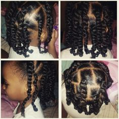 Incredible Two Strand Twists And Barrettes Natural Hair Protective Style For Short Hairstyles For Black Women Fulllsitofus