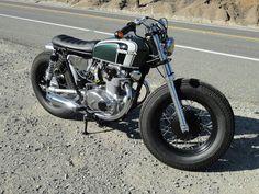 1973 CB350 Brat Style Tracker Custom