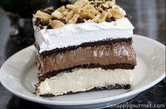 No Bake Chocolate Peanut Butter Lasagna | AllFreeCasseroleRecipes.com