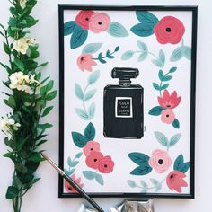 Chanel Inspired Perfume Art Print from Sonni & Blush Paper Co.
