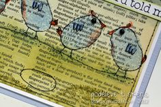 thumbprint birds on dictionary page