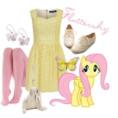 """Fluttershy"" by mawaridi on Polyvore #IceCarats http://www.icecarats.com/Sterling-Silver-Pink-Shell-Butterfly-Earrings-325010.aspx"