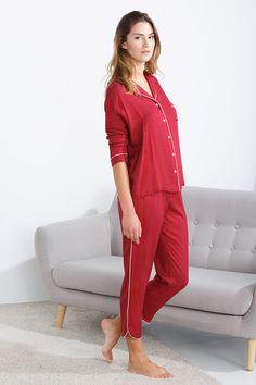 women'secret | Dulces sueños 30% | Pijama largo de estilo masculino con topos