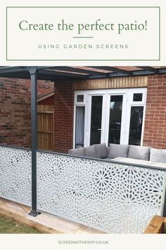 Back Garden Design, Modern Garden Design, Backyard Garden Design, Patio Design, Backyard Patio, Backyard Landscaping, Garden Privacy Screen, Garden Screening, Garden Makeover