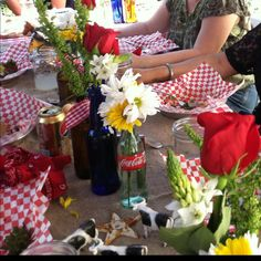 More cowboy baby shower really cute the coke bottles