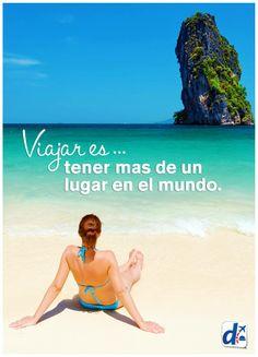 #Viajar es -- tener más de un lugar en el mundo. Viaja con #Despegar www.despegar.com