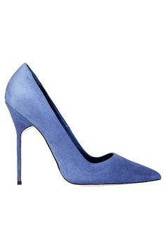Manolo Blahnik Classy Blue Pumps Fall Winter 2013 #Manolos #Shoes #Heels