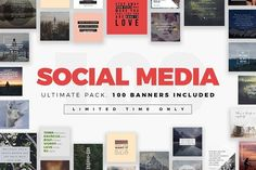 Ad: Ultimate Social Media Bundle by MinimalStudioCo on Creating your next social banner has never been so easy with this MegaPack Social Media Banner. This collection of unique designs come Social Media Quotes, Social Media Banner, Social Media Template, Social Media Design, Website Design Inspiration, Branding, Instagram Post Template, Business Card Logo, Social Media Marketing