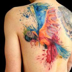 Tattoos wie ein Wasserfarben-Gemälde (Foto: Instagram / emrahlausbub)
