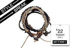 STYLE BREAK! Get the Alexander Bracelet for $22.  Today Only! 040313 https://helloglobalchic.kitsylane.com