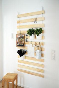 etagere murale cuisine en bois clair