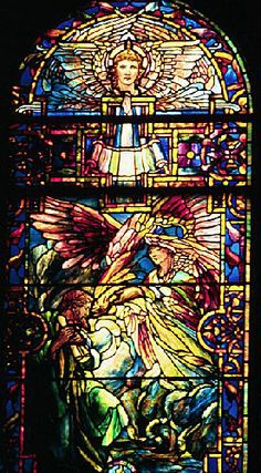 Louis Comfort Tiffany (1848-1933) The Call of Isaiah