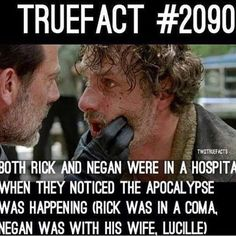 That's actually really depressing, with Negan being with his wife