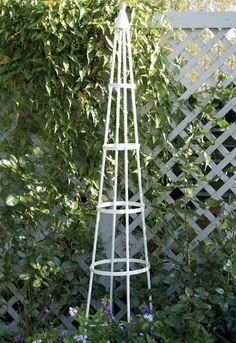 Gardman 07705 classical garden obelisk black steel plant support