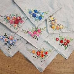 new brazilian embroidery design Handkerchief Embroidery, Baby Embroidery, Silk Ribbon Embroidery, Embroidery Hoop Art, Hand Embroidery Patterns, Cross Stitch Embroidery, Contemporary Embroidery, Modern Embroidery, Vintage Embroidery