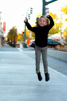 Jump! Little girl fall looks, booties, crewcuts, our happiness tour