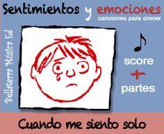 """Sentimientos y emociones: """"Cuando me siento solo"""" Descárgate de forma gratuita la partitura orquestada para 2 violines, violoncelo, piano, y bajo del tema.  El archivo comprimido de 3,3MB incluye la partitura orquestal mas las partes de cada instrumento y la letra de la canción en formato PDF. link: http://www.bellaterramusica.com/llibre.php?titol=48&ap=audio&v=esp#.U-zppVZoTUQ"""