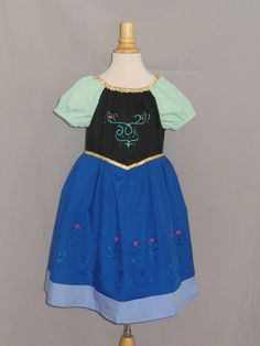 Anna Inspired Dress Frozen by NanasSewingCloset on Etsy