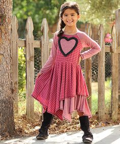 Look at this Red Heart Hankie Dress - Toddler & Girls on #zulily today!