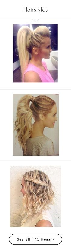 """""""Hairstyles"""" by lylylomel ❤ liked on Polyvore featuring hair, hairstyles, shorts, short shorts, beauty products, haircare, hair styling tools, hair styles, hairstyle and accessories"""