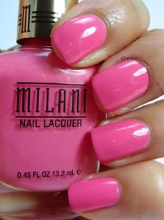 Milani Nail Lacquer in Popping pink- Gold Label line