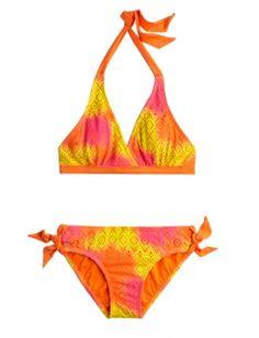 Crochet Dye Effect Bikini Swimsuit justice