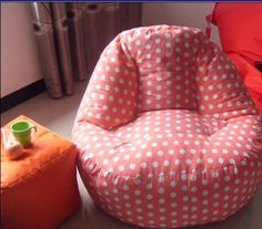 bean bag chair for indoor use with various pattern fabric choice - China bean bag chair, VISI Diy Sewing Projects, Sewing Tutorials, Sewing Crafts, Sewing For Kids, Baby Sewing, Fabric Patterns, Sewing Patterns, Diy Bean Bag, Kids Bean Bags