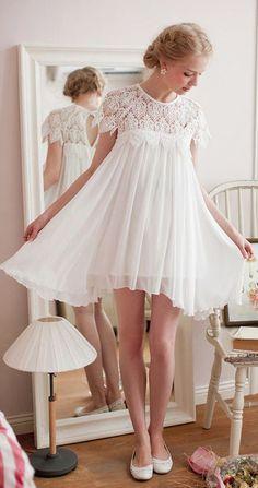 Vestido babydoll curto branco - http://vestidododia.com.br/vestidos-curtos/vestido-branco-curto/