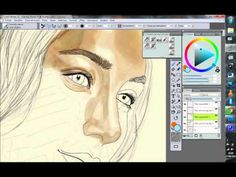 Attempt to use watercolor on Corel Painter 12