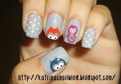 Grey design nails