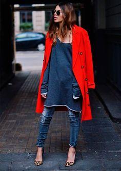 vestido com calça é cool